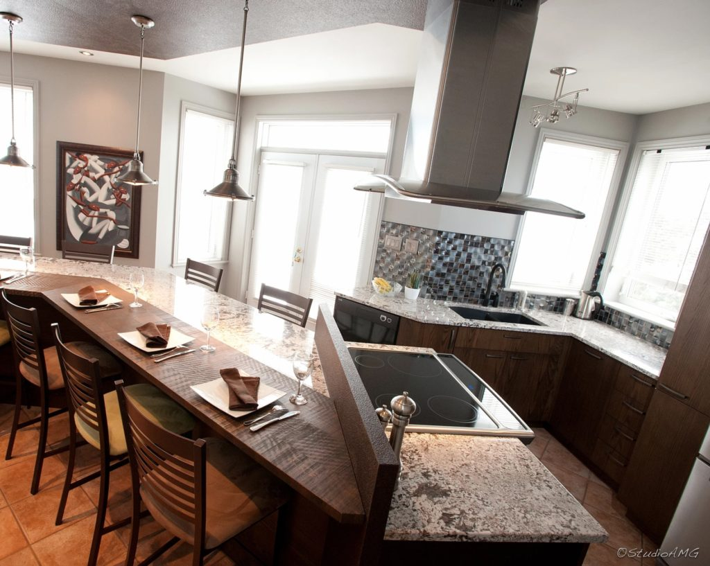 Bianco Antico granite countertops and island