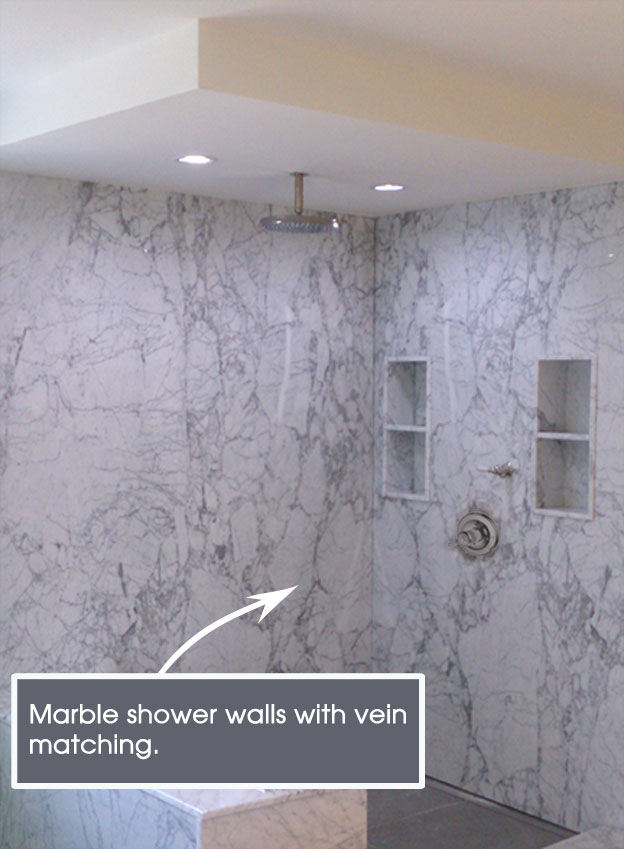 douche en marbre marble shower