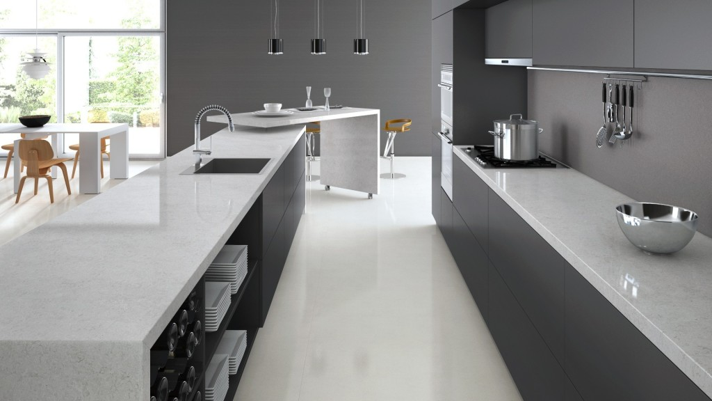 Bianco Drift Caesarstone Quartz - C6131 - Granit Plus