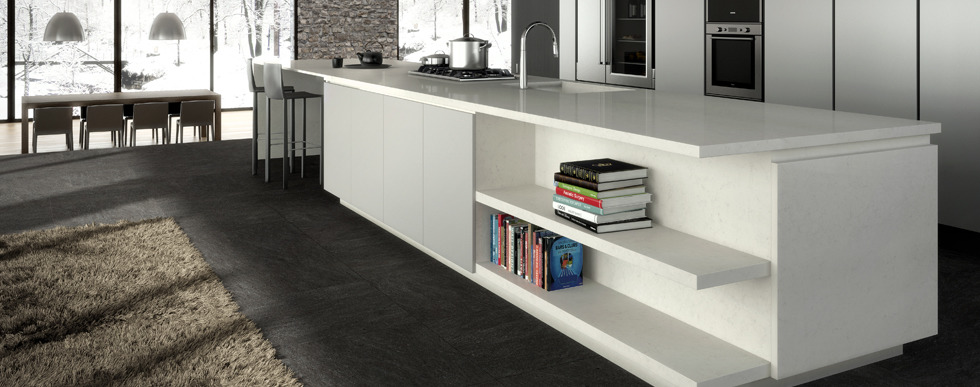 comptoir en quartz caesarstone london grey 5000